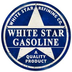 This White Star Gasoline round metal sign measures 14 inches by 14 inches and weighs in at 2 lb(s). We hand make all of our round metal signs in the USA using heavy gauge american steel and a process known as sublimation, where the image is baked into a powder coating for a durable and long lasti...