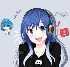 Nowadays everything gets to be an anime girl introducing Discord-chan Cartoon As Anime, Chica Anime Manga, Anime Comics, Anime Art, Anime Figures, Anime Characters, Otaku, Character Art, Character Design