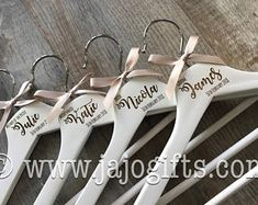 Personalised engraved dress coat hangers for wedding party bride maid of honour bridesmaid large name plus role and date hanger photo prop Bridesmaid Dress Hangers, Bridesmaid Dresses, Wedding Hangers, Coat Hanger, Coat Dress, Special Day, Big Day, Party, Etsy