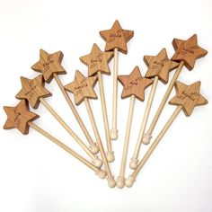 Wooden Star Wand