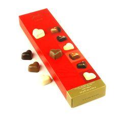 Grand étui de chocolats belges  en forme de coeur