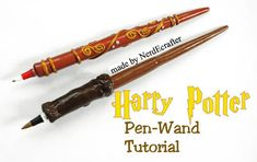 Harry Potter Wand Pens (tutorial link) - POTTERY, CERAMICS, POLYMER CLAY