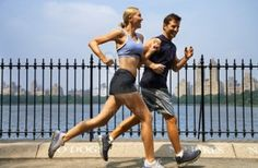 Funny blurb about running with your spouse.