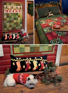 Christmas projects from the book 'Tis the Season by Jeanne Large and Shelley Wicks. And Rufus!