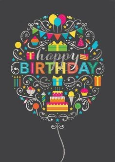 This modern birthday card is perfect for your trendiest customers or staff on their special day. Shop for Birthday Greeting Cards today! Best Birthday Wishes, Happy Birthday Sister, Happy Birthday Messages, Happy Birthday Quotes, Happy Birthday Images, Happy Birthday Greetings, Birthday Pictures, Birthday Memes, Card Birthday
