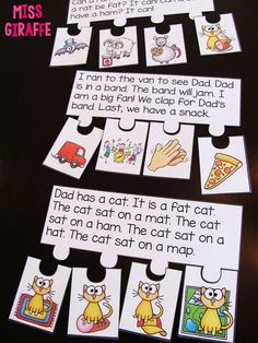 Short vowels reading fluency and sequencing puzzles that make reading fun and incorporates so many phonics skills!