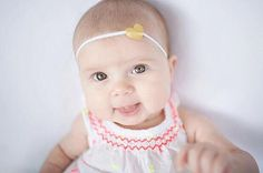 A sweet little heart headband for your baby girl!