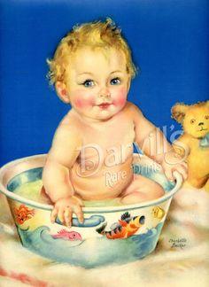 Vintage calendar prints of babies, children, pets, mothers, etc. Vintage Baby Pictures, Vintage Images, Old Illustrations, Vintage Calendar, Baby Illustration, Art Students League, Print Calendar, Vintage Nursery, Baby Art