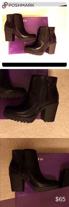 Madden Girl Como Black Booties Size 6.5 Brand new in box. About 2 inch heel height Madden Girl Shoes Ankle Boots & Booties