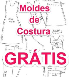 Moldes de Costura #moldes #patrones #patterns #clothes #costura