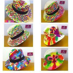 Painted Hats, Airbrush Art, Travel Wardrobe, Custom Hats, Kids Hats, Summer Hats, Spring Day, Panama Hat, Cap