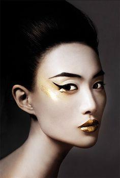 Face Black Lipstick Hair Sweater White Tips Paradise Blossom Pinterest