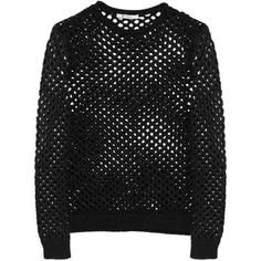 T by Alexander Wang Open-knit sweater found on Polyvore