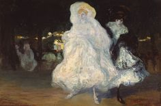 Hermen Anglada Camarasa, Champs Elysées,1904,Olio su tavola, cm 81x120,Museu de Montserrat.Dono di Josep Sala Ardiz.