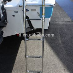 Source boats/yacht stainless steel Telescopic folding ladder 3 steps ladder on m.alibaba.com