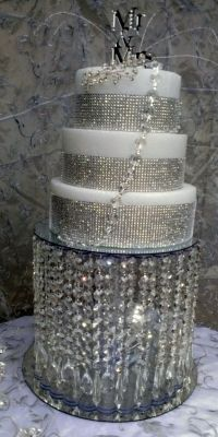 Wedding Crystal Cake Stand  DIY this