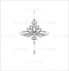 unalome lotus flower meaning Mini Tattoos, Trendy Tattoos, Body Art Tattoos, Small Tattoos, Tattoos For Women, Feminine Tattoos, Unalome Tattoo, Lotusblume Tattoo, Piercing Tattoo