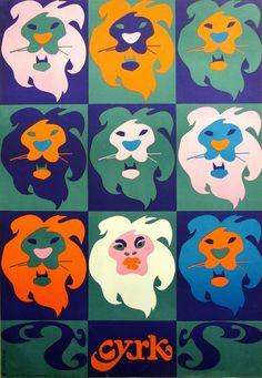Circus Lions - Andy Warhol Cyrk Lwy - Andy Warhol Jodlowski Tadeusz Polish Poster