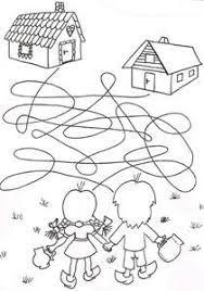 Výsledek obrázku pro veršovaná pohádka perníková chaloupka Coloring Pages For Kids, Coloring Sheets, Coloring Books, Kindergarten Goals, Nursing Home Activities, Maze Worksheet, Hansel Y Gretel, Homeschool Worksheets, Picture Puzzles