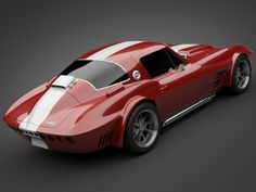 1965 GrandSport Corvette Sports Car 3D Model