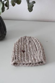 classic beanie for kiddos in beige
