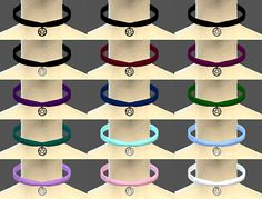 "P E N T A G R A M _ C H O K E R • Non-Default • Standalone • Female • 15 colors • Not compatible with neck slider, I made a bit large so it should fit large neck. "" Download: X """