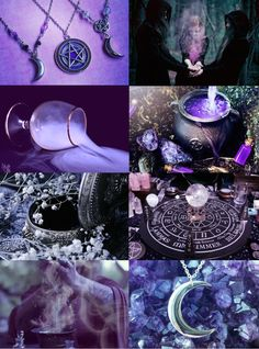 Witch Aesthetics // Purple Witch  Blue | Gray | White | Red | Green | Pink | Orange