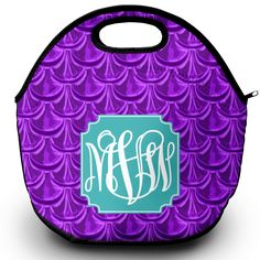 Never brown bag it again with this colorful and stylish monogrammed lunch tote! Made of neoprene material, it features a zippered top with a carrying handle