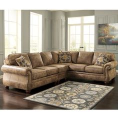 Larkinhurst Earth 3pc. Sectional - Bernie And Phyls
