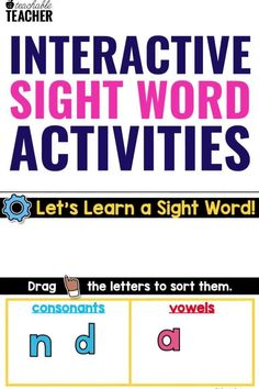 Sight Word Practice has never been more fun for your students! These interactive Boom Learning Sight Word activities allow your students to be independent, have fun, and learn their sight words. Watch your students grow quickly in their knowledge of their sight words by using these sight word activities! Learning Sight Words, Sight Word Practice, Sight Word Activities, Teachers Pay Teachers Freebies, Sight Word Centers, 2nd Grade Reading, Rhyming Words, 100 Words, Reading Intervention