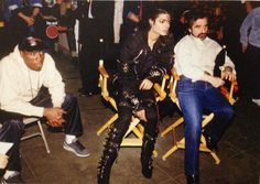 Wesley Snipes, Michael Jackson and Martin Scorsese on the set of the Bad short film (Hoyt Schermerhorn subway station in Brooklyn)