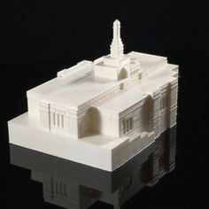 Download on https://cults3d.com #3Dprinting #Impression3D Snowflake, Arizona LDS (Mormon) Temple Model 3D file, TheTempleStore