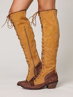 Obsessed with these boots. JC Joe Lace Up Boot. I want!!! Mustard/Brown color is different.