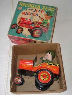 Recruta Zero e seu Jeep Maluco - Estrela - tin toy - Brasil - 70's