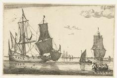 Binnenwater met een fluitschip, Reinier Nooms, 1650 - before 1705