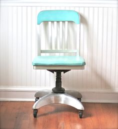 Mid Century General Fireproofing Office Chair Aqua by ivorybird, $260.00