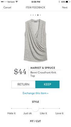 Market & Spruce:  Benni Crossfront Knit Top