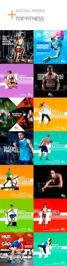 Social Media - Academia Top Fitness on Behance