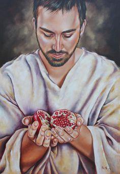 The Sacrifice Of Jesus Painting by Ilse Kleyn Jesus Pictures, Art Pictures, Israel, Catholic Sacraments, Jesus Sacrifice, Jesus Painting, Prophetic Art, Jewish Art, Illustrations