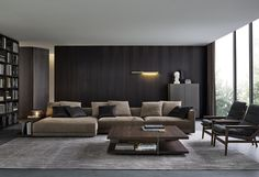 With Spring almost here, we want to inspire you for a new modern interior design for your living room. Living Room Modern, Living Room Interior, Home Living Room, Living Room Furniture, Living Room Designs, Living Spaces, Furniture Usa, Modern Sofa, Sofa Design