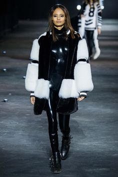 Philipp Plein - Amazing! All black, sleek, leather, statement pure white furs. Absolutely loved it and want every piece. thestyleweaver.com Fall 2015 Ready-to-Wear