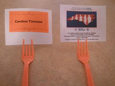 Place cards for GFWC- Southeastern Region Meal, featuring GFWC-NC Feed the Future facts and information on childhood hunger in NC