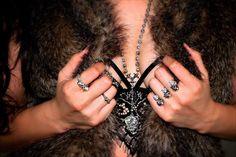 "INGRIDJewelry on Instagram: ""Cozy up your wardrobe #winteriscoming @INGRIDJewelry #silverjewelry #jewelry #fashion #ring #necklace #guitar #skull #macabre #potd #ootd #skivvies #tgif #calilife #casualluxury #ingridjewelry www.ingridjewelry.com"""