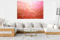Love inversion - XXL abstract Acrylic painting by Ivana Olbricht Beneath The Surface, Golden Color, Abstract Styles, Acrylic Painting Canvas, Abstract Landscape, New Art, Blinds, The Originals, Artwork