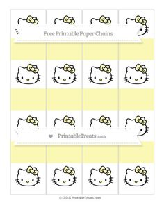 Free Pastel Light Yellow  Hello Kitty Paper Chains