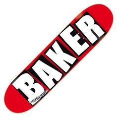 """Board BAKER Skateboards brand logo red black white 8.0"""" 70€ #deck #planchedeskate #baker #bakerskate #bakerskateboard #bakerskateboards #skate #skateboard #skateboarding #streetshop #skateshop @April Gerald Skateshop"""