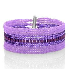 Purple Velvet Bracelet | Fusion Beads Inspiration Gallery