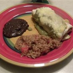 Enchiladas Verdes (Green Enchiladas) Allrecipes.com  This is a great recipe if you have lots of anaheim peppers and you don't know what to do with them!