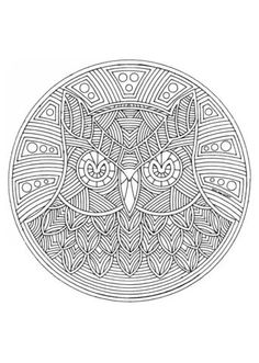 incredible owl mandala coloring page, from the gallery : mandalas ... - Animal Mandala Coloring Pages Owl