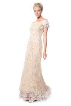 Beaded Tulle Gown - Shop | Tadashi Shoji